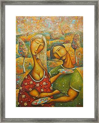 Painting Love Framed Print