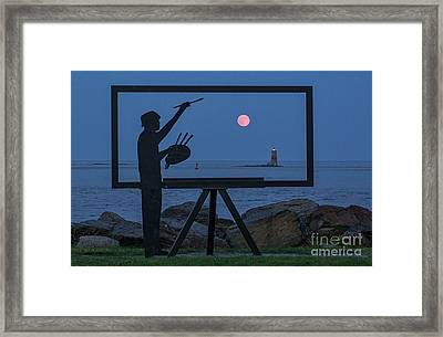 Painting Man Framed Print by Scott Thorp