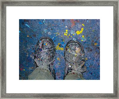 Painting My Life Away Framed Print by Kip Krause