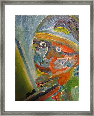Painting Myself Framed Print by Shea Holliman