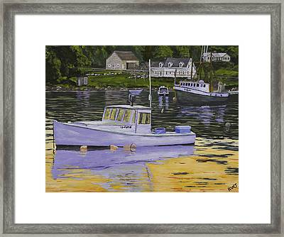 Fishing Boats In Port Clyde Maine Framed Print