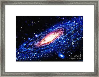 Painting Of Galaxy Framed Print