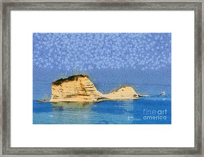 Islet In Peroulades Area Framed Print
