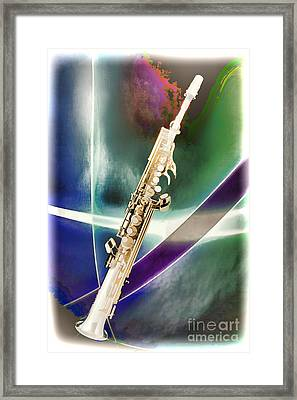 Painting Of Music Soprano Saxophone In Color 3340.02 Framed Print