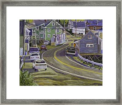 Main Street South Bristol Maine Framed Print