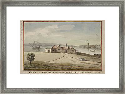Painting Of View From Florida Governor's Framed Print by British Library