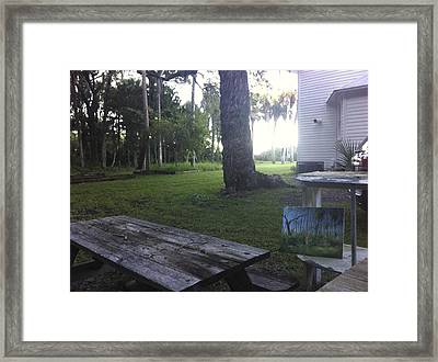 Painting Owl Woods Framed Print by AnnaJo Vahle