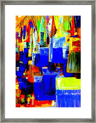 Painting Paintbrushes  Framed Print by Mamie Gunning