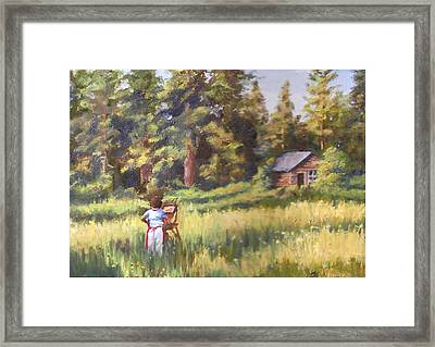 Painting Plein Aire In Idaho Framed Print