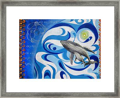 Painting Print Cosmic Whale Framed Print