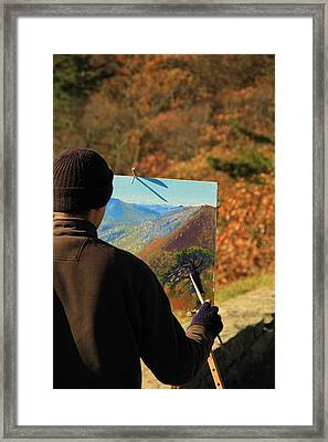 Painting Shenandoah Framed Print by Dan Sproul