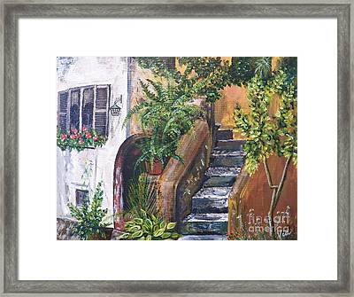 Painting    Siesta Steps Framed Print
