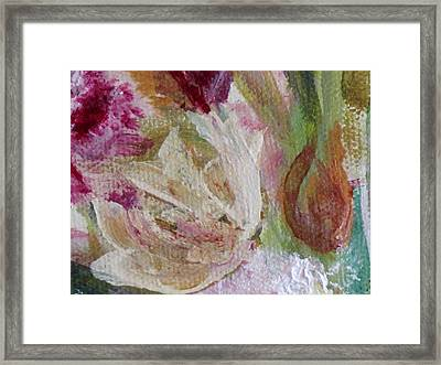 Framed Print featuring the painting Painting Soft Flowers 2 by France Laliberte