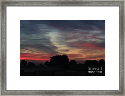 Painting Sunrise By Nature Framed Print