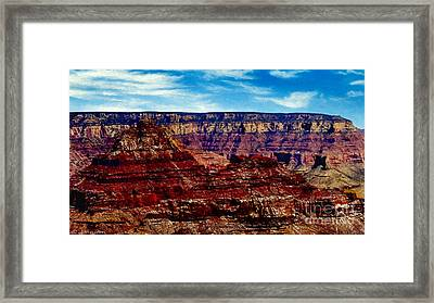 Painting The Grand Canyon National Park Framed Print by Bob and Nadine Johnston