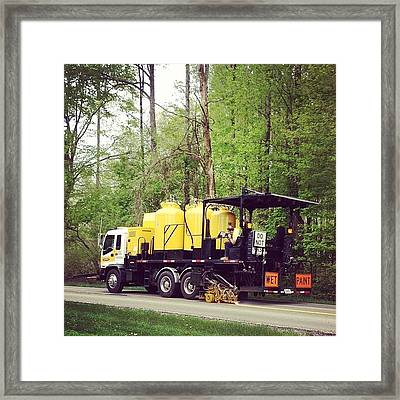 Painting The Highway Framed Print