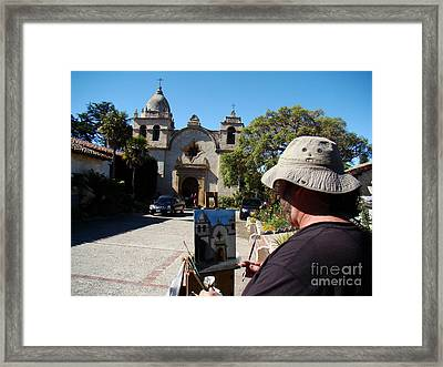 Painting The Mission Framed Print by Eva Kato