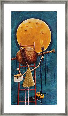 Painting The Moon Framed Print
