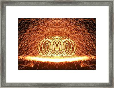 Painting The Night With Fire Framed Print by Dan Sproul