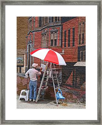 Painting The Past Framed Print by Ann Horn