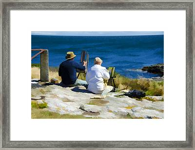 Painting The View Framed Print