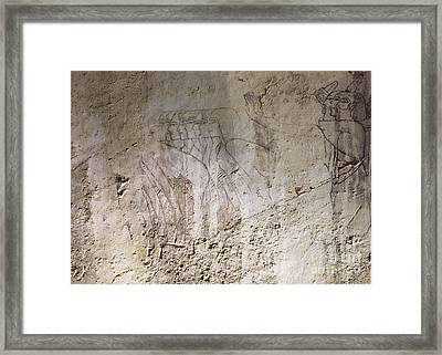 Painting West Wall Tomb Of Ramose T55 - Stock Image - Fine Art Print - Ancient Egypt Framed Print