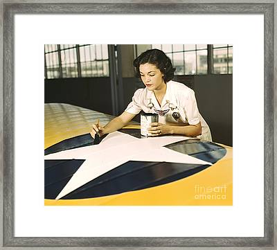 Painting Wing Insignia 1942 Framed Print