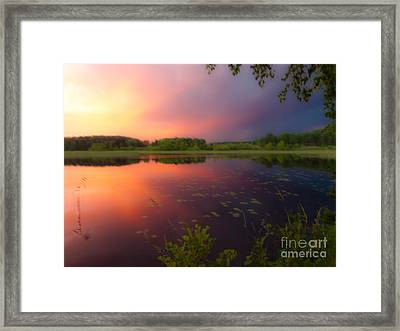 Painting With Stormy Light Framed Print