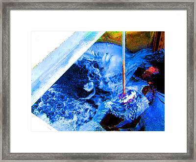 Painting With Water Framed Print