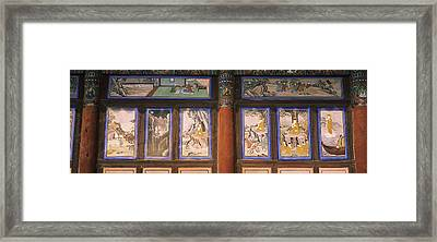 Paintings In A Buddhist Temple, Kayasan Framed Print by Panoramic Images