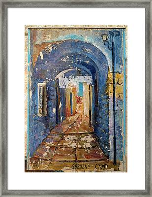 Paintings Of A Building, Hod Hasharon Framed Print