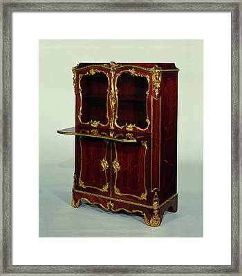 Pair Of Cabinets Bernard II Van Risenburgh, French Framed Print