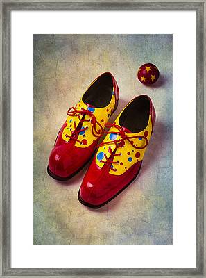 Pair Of Clown Shoes Framed Print