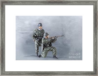 Pair Of Panzer Grenadiers Framed Print