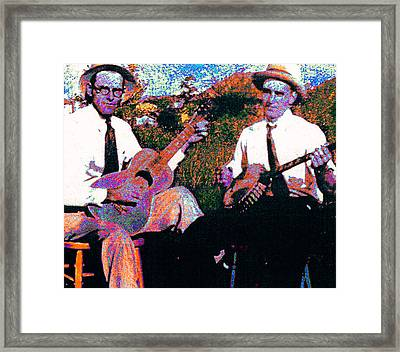 Pair Of Pickers Framed Print by Dale Michels