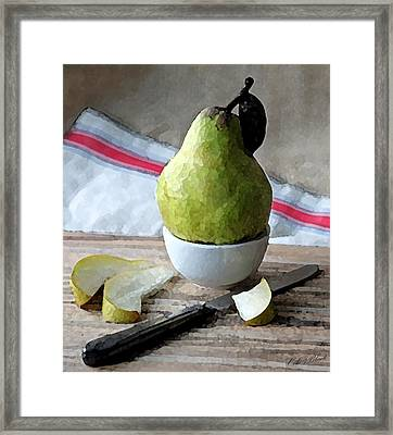 Pair Slices Framed Print by Cole Black