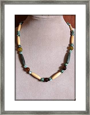 Pairie Tribal Framed Print by Jan Brieger-Scranton
