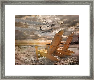 Pairs Along The Coast Framed Print