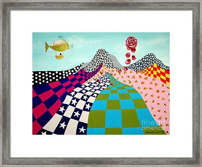 Paisley Mountain Framed Print