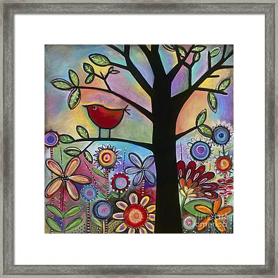 Framed Print featuring the painting Pajaro Loco by Carla Bank
