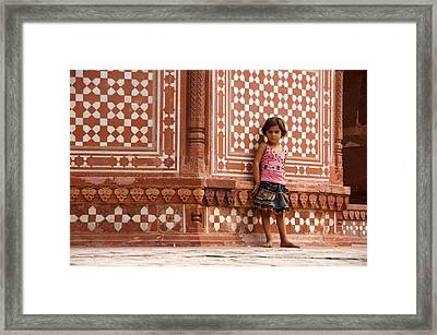 Pakistani Girl Framed Print