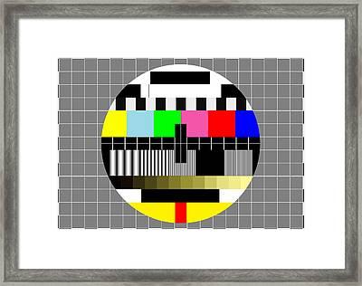 Pal Tv Testing 2 Framed Print by Saad Hasnain