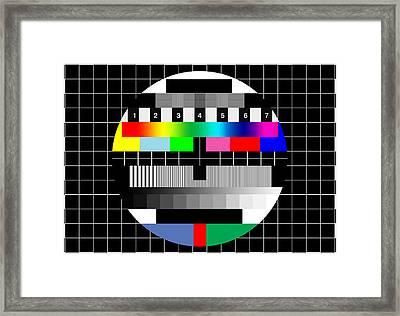 Pal Tv Testing Framed Print by Saad Hasnain
