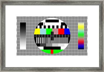 Pal Tv Testing Widescreen Framed Print by Saad Hasnain