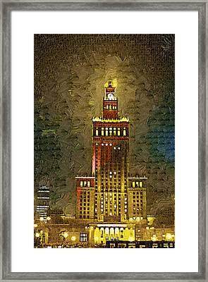 Palac Kultury Framed Print by Aleksander Rotner
