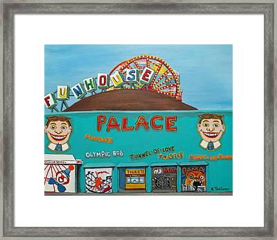 Palace Amusements II Framed Print by Norma Tolliver