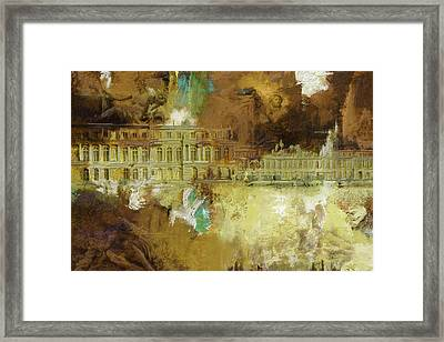 Palace And Park Of Versailles Framed Print