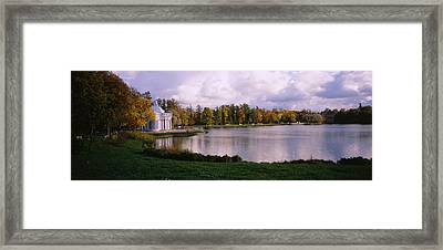 Palace At The Lakeside, Catherine Framed Print by Panoramic Images
