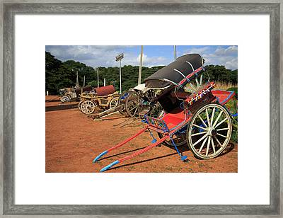 Palace Carriages - India Framed Print