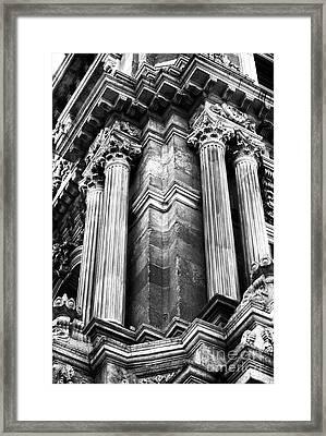 Palace Columns Framed Print by John Rizzuto